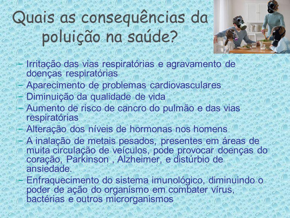 Quais as consequências da poluição na saúde
