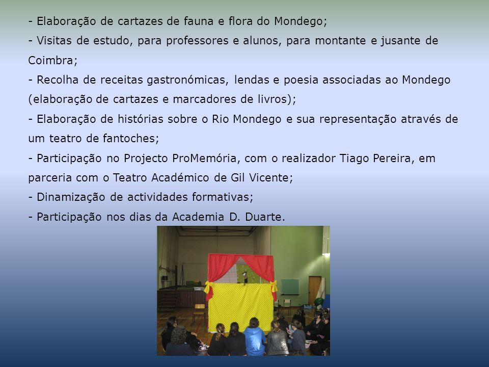 Elaboração de cartazes de fauna e flora do Mondego;