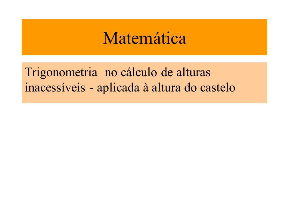 Matemática Trigonometria no cálculo de alturas inacessíveis - aplicada à altura do castelo