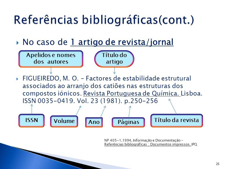 Referências bibliográficas(cont.)