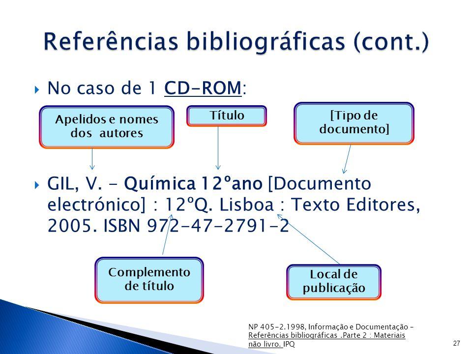Referências bibliográficas (cont.)