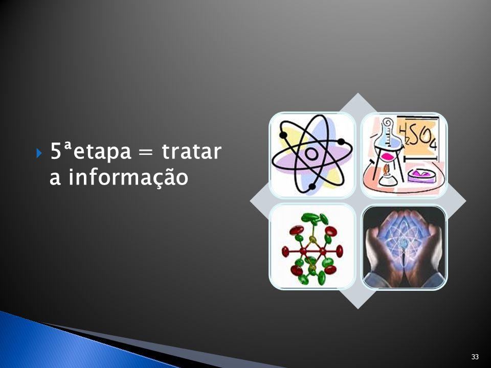 5ªetapa = tratar a informação