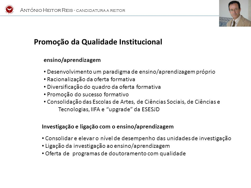 Promoção da Qualidade Institucional