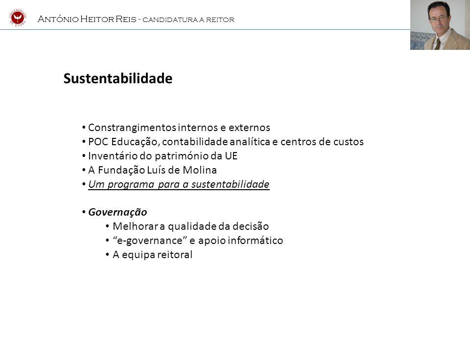 Sustentabilidade Constrangimentos internos e externos