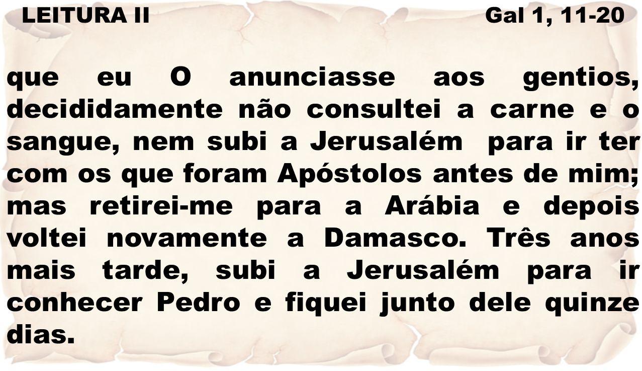 Não vi mais nenhum dos Apóstolos, a não ser Tiago, irmão do Senhor.