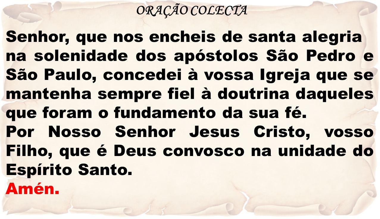 Senhor, que nos encheis de santa alegria