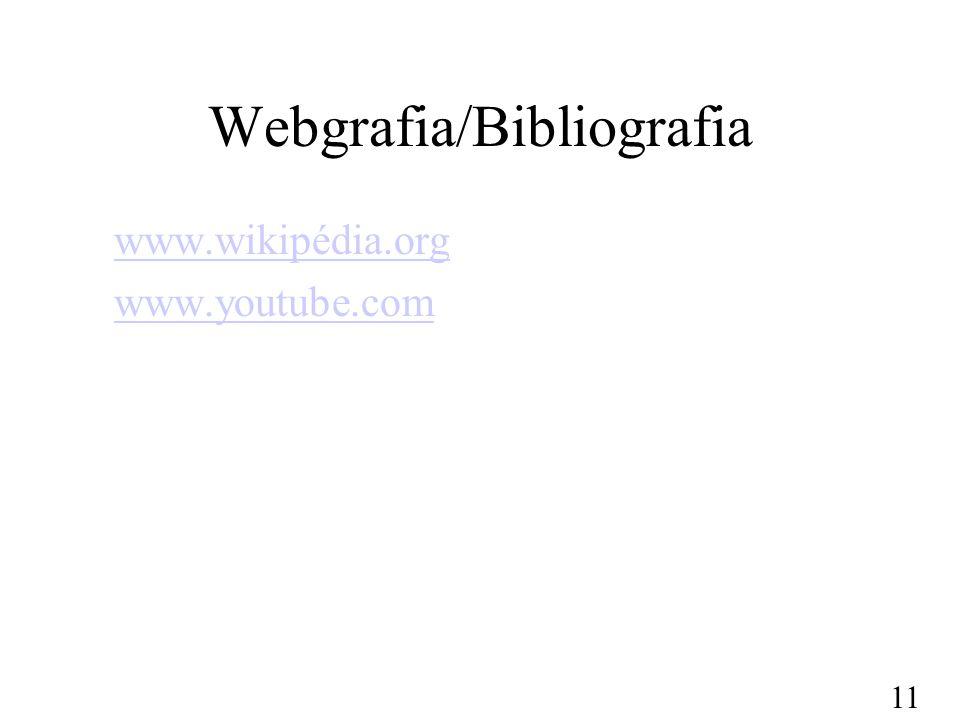 Webgrafia/Bibliografia
