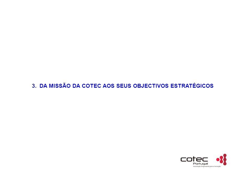 3. DA MISSÃO DA COTEC AOS SEUS OBJECTIVOS ESTRATÉGICOS