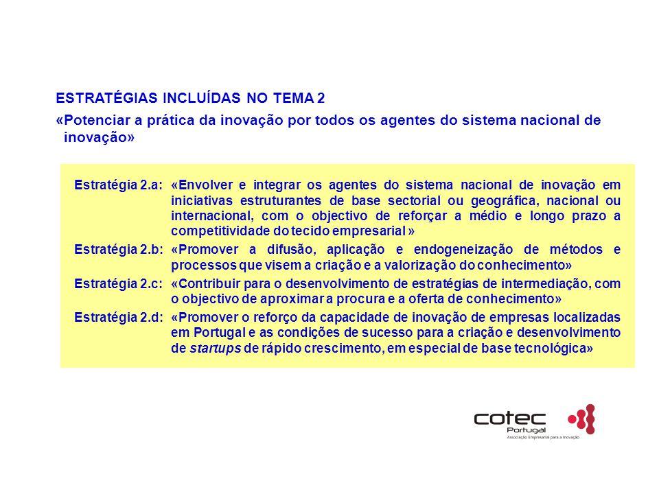 ESTRATÉGIAS INCLUÍDAS NO TEMA 2