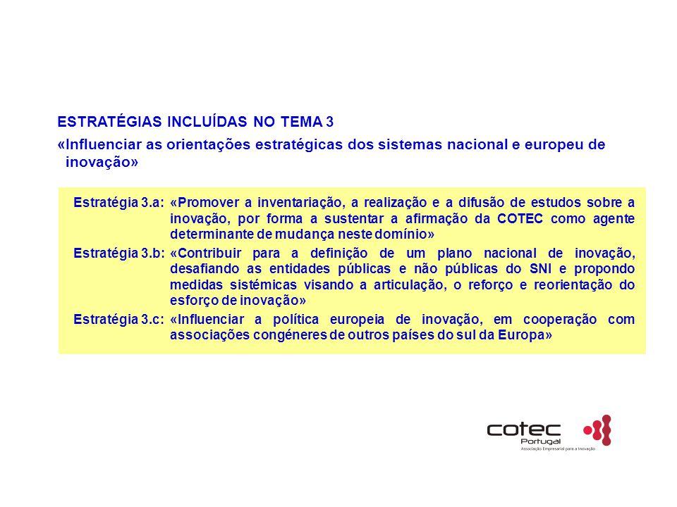 ESTRATÉGIAS INCLUÍDAS NO TEMA 3
