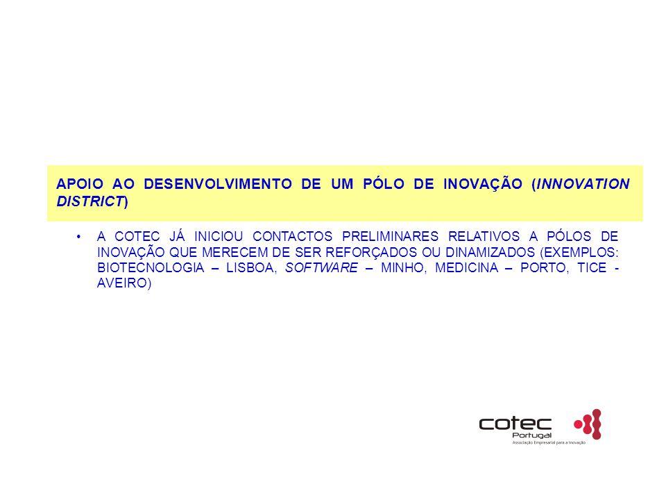 APOIO AO DESENVOLVIMENTO DE UM PÓLO DE INOVAÇÃO (INNOVATION DISTRICT)