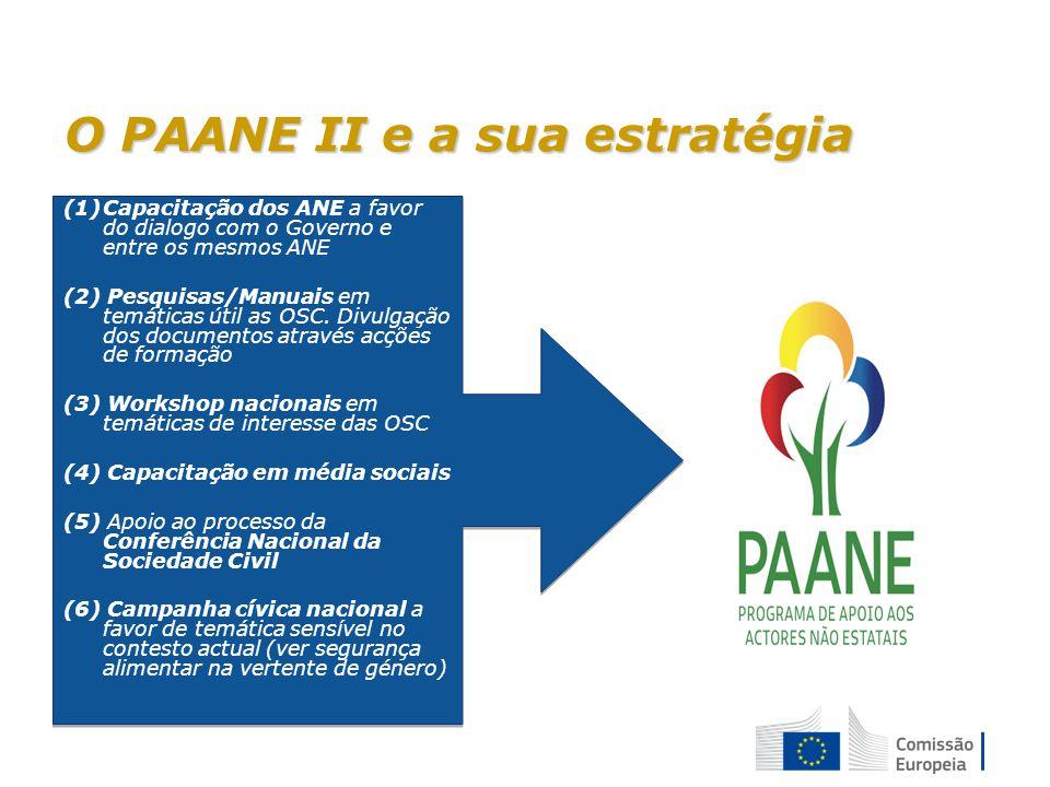 O PAANE II e a sua estratégia