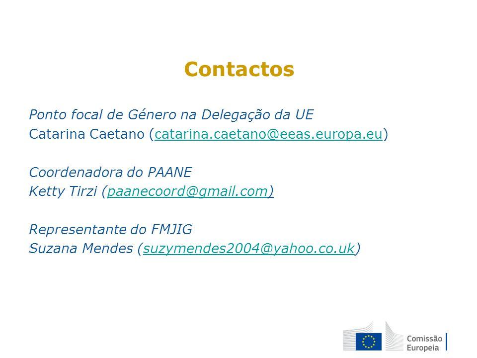 Contactos Ponto focal de Género na Delegação da UE