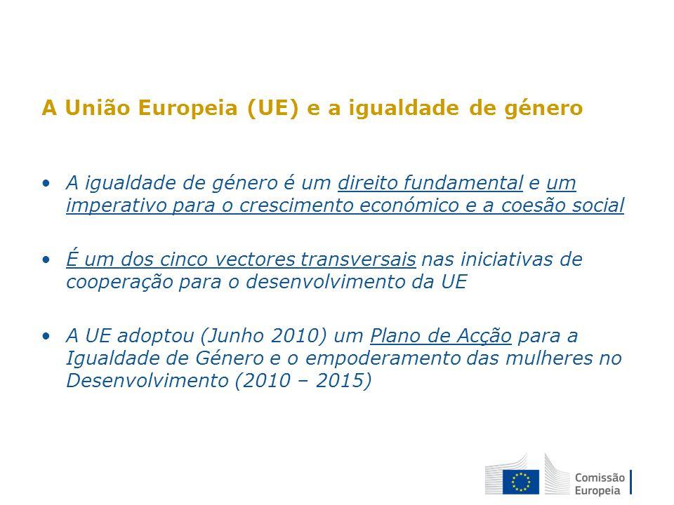A União Europeia (UE) e a igualdade de género