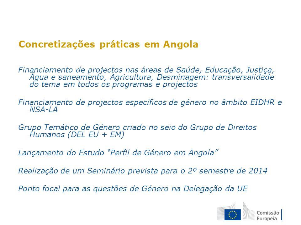 Concretizações práticas em Angola