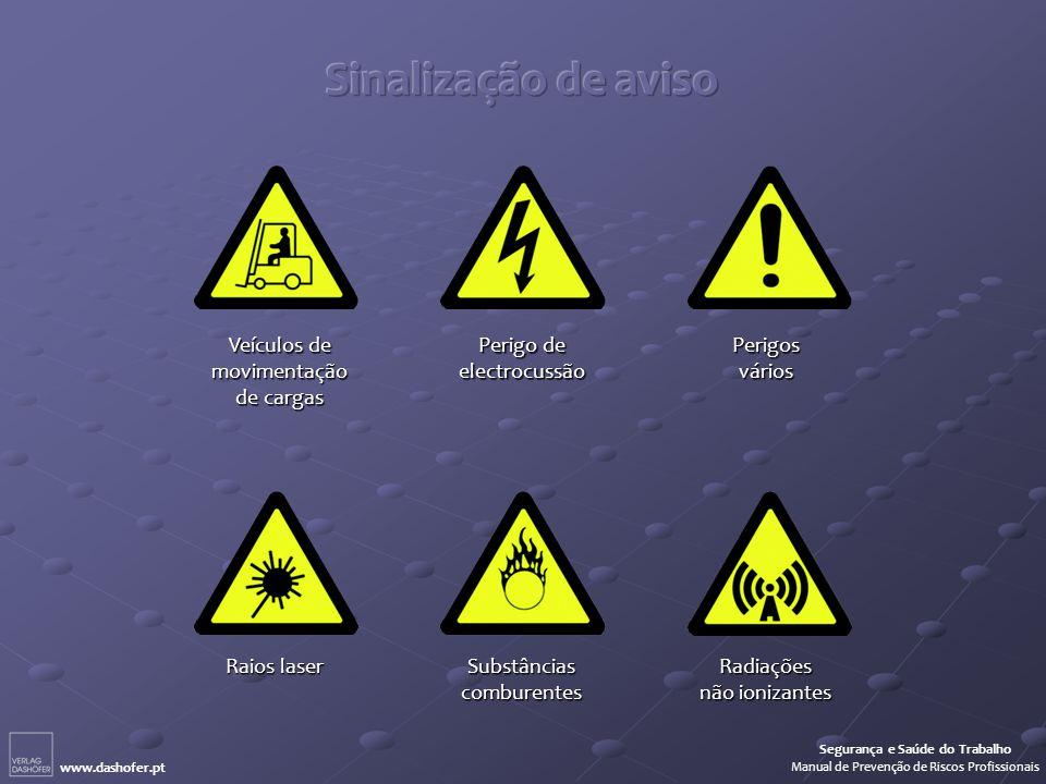 Sinalização de aviso Veículos de movimentação de cargas