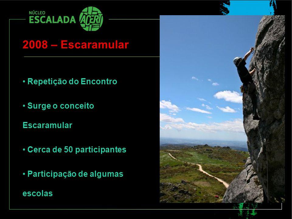 2008 – Escaramular Repetição do Encontro Surge o conceito Escaramular