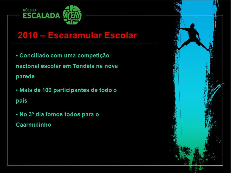 2010 – Escaramular Escolar Conciliado com uma competição nacional escolar em Tondela na nova parede.