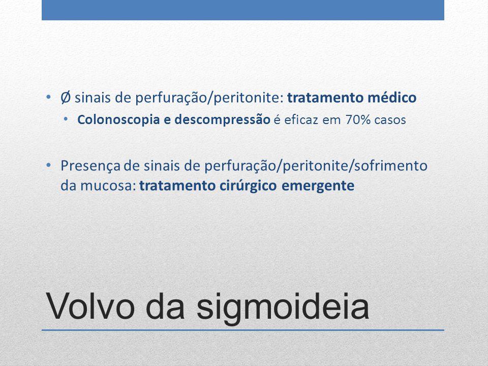 Ø sinais de perfuração/peritonite: tratamento médico