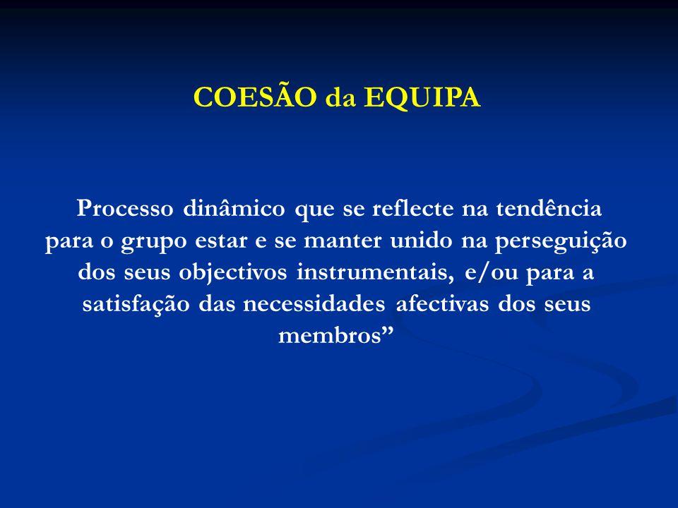 COESÃO da EQUIPA