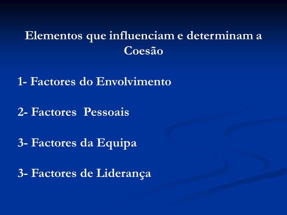 Elementos que influenciam e determinam a Coesão