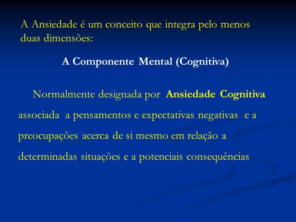 A Componente Mental (Cognitiva)