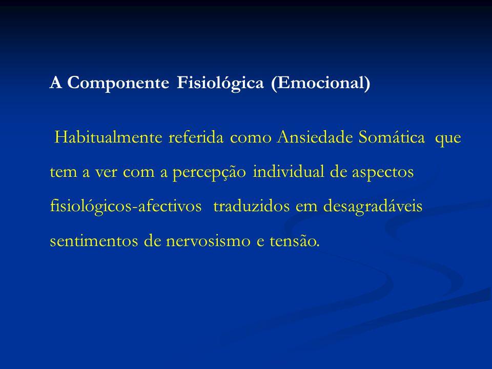 A Componente Fisiológica (Emocional)