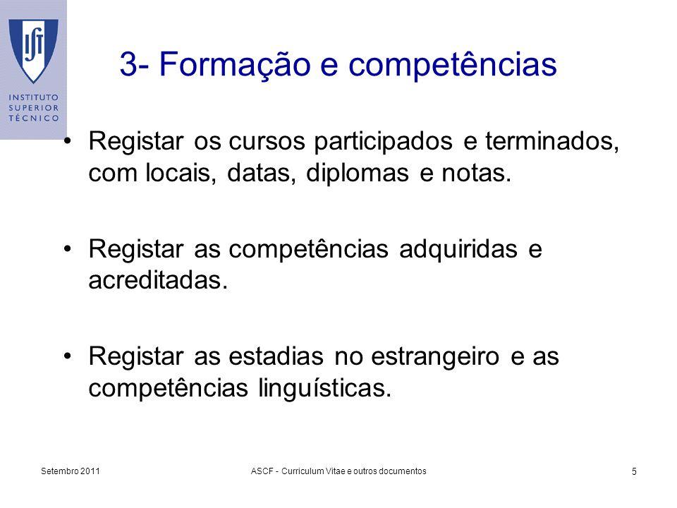 3- Formação e competências