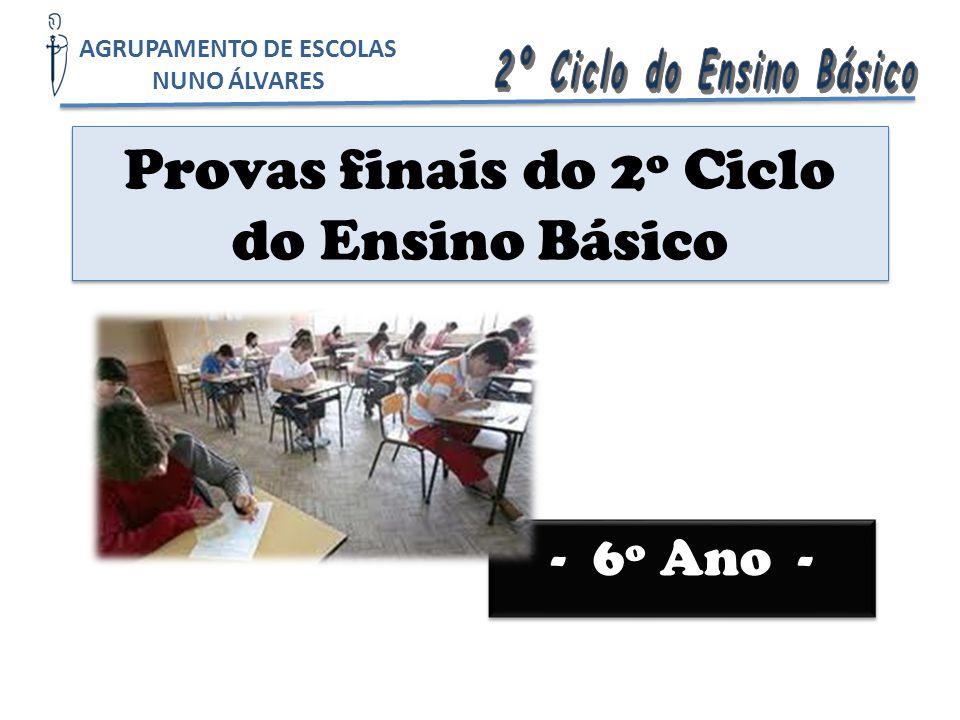 Provas finais do 2º Ciclo do Ensino Básico
