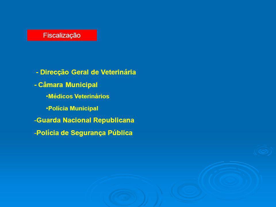 - Direcção Geral de Veterinária - Câmara Municipal