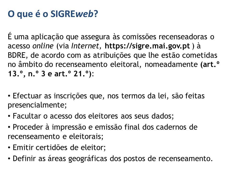 O que é o SIGREweb