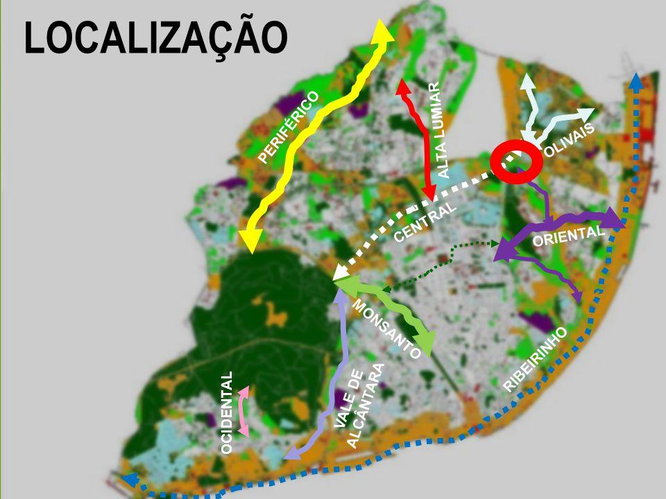 LOCALIZAÇÃO PERIFÉRICO ALTA LUMIAR OLIVAIS CENTRAL ORIENTAL MONSANTO