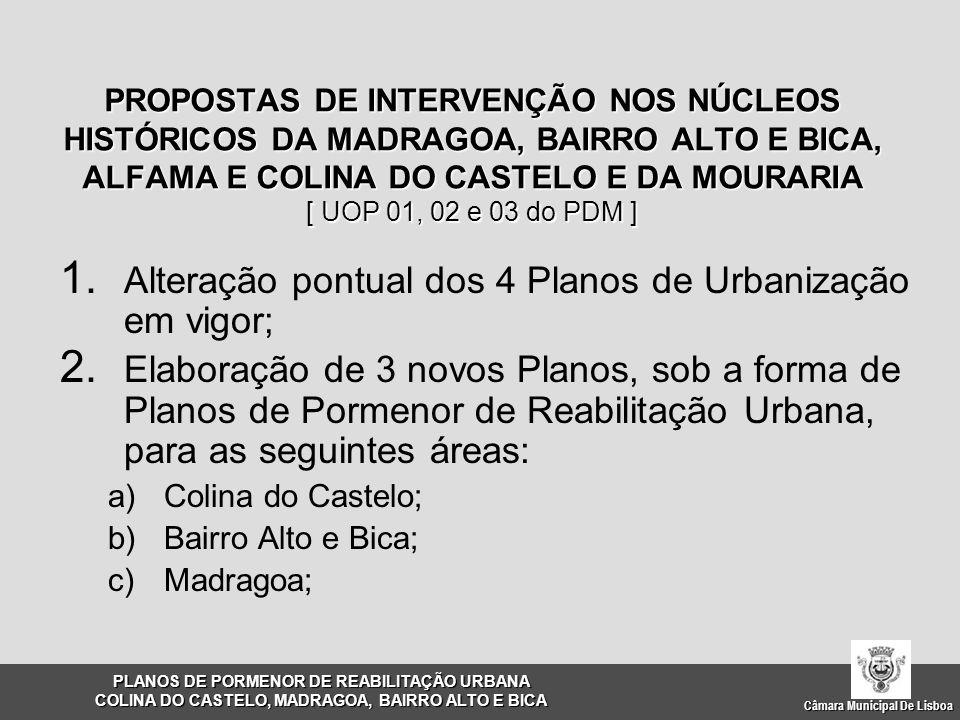 Alteração pontual dos 4 Planos de Urbanização em vigor;