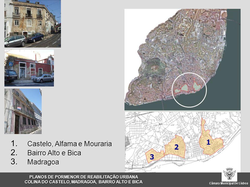 Castelo, Alfama e Mouraria Bairro Alto e Bica Madragoa 2 3