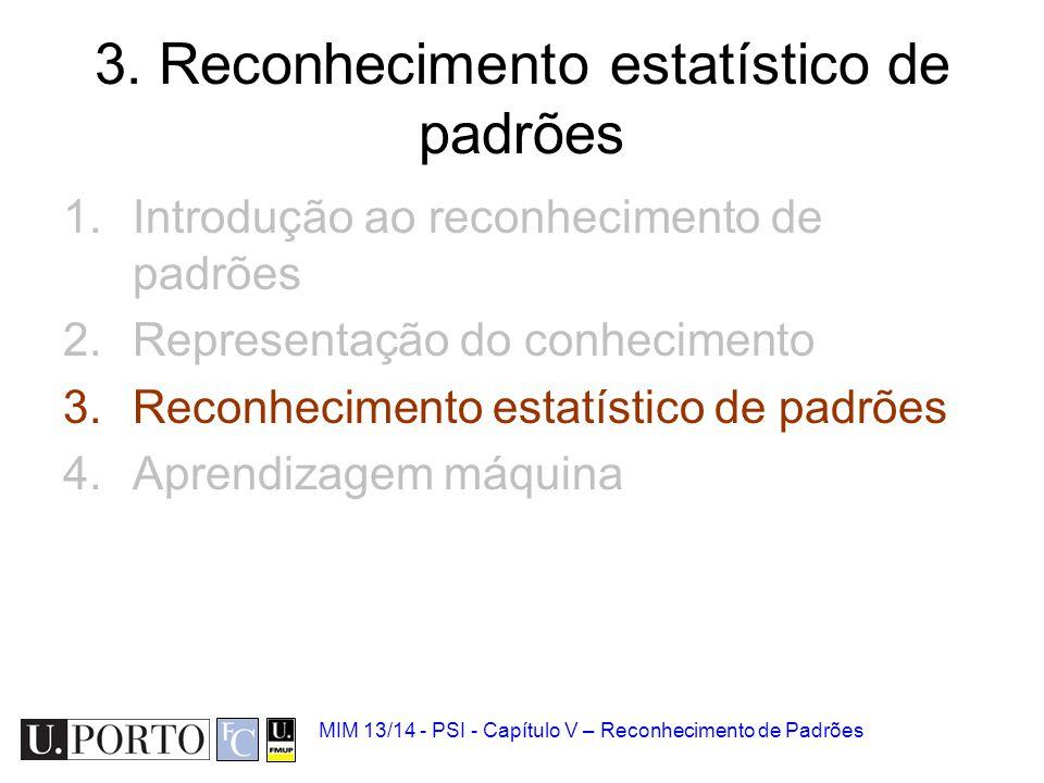 3. Reconhecimento estatístico de padrões