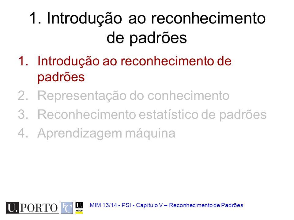 1. Introdução ao reconhecimento de padrões