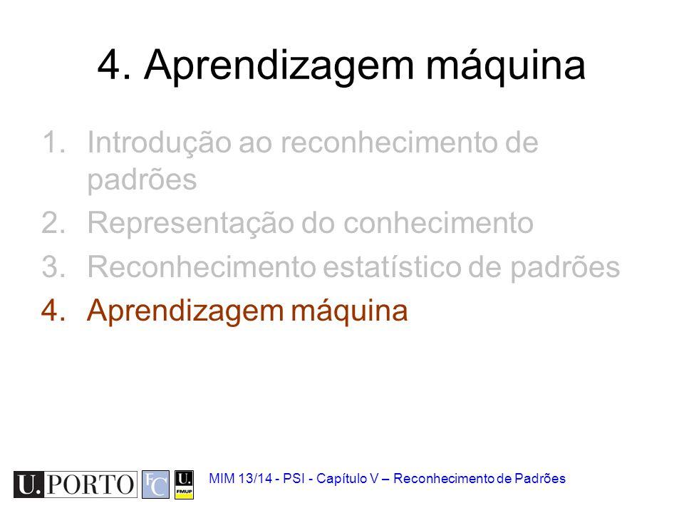 4. Aprendizagem máquina Introdução ao reconhecimento de padrões