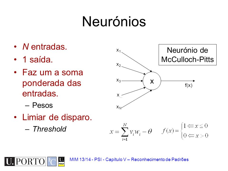 Neurónio de McCulloch-Pitts