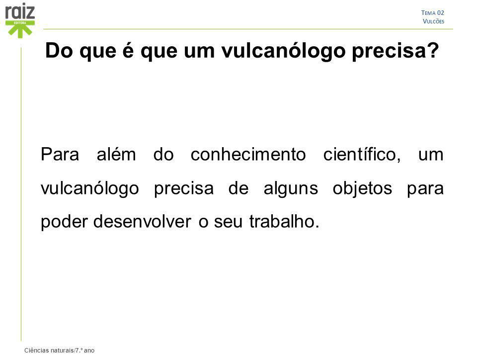 Do que é que um vulcanólogo precisa