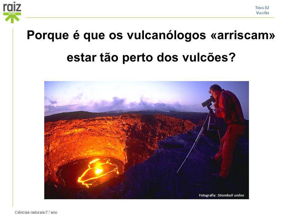 Porque é que os vulcanólogos «arriscam» estar tão perto dos vulcões