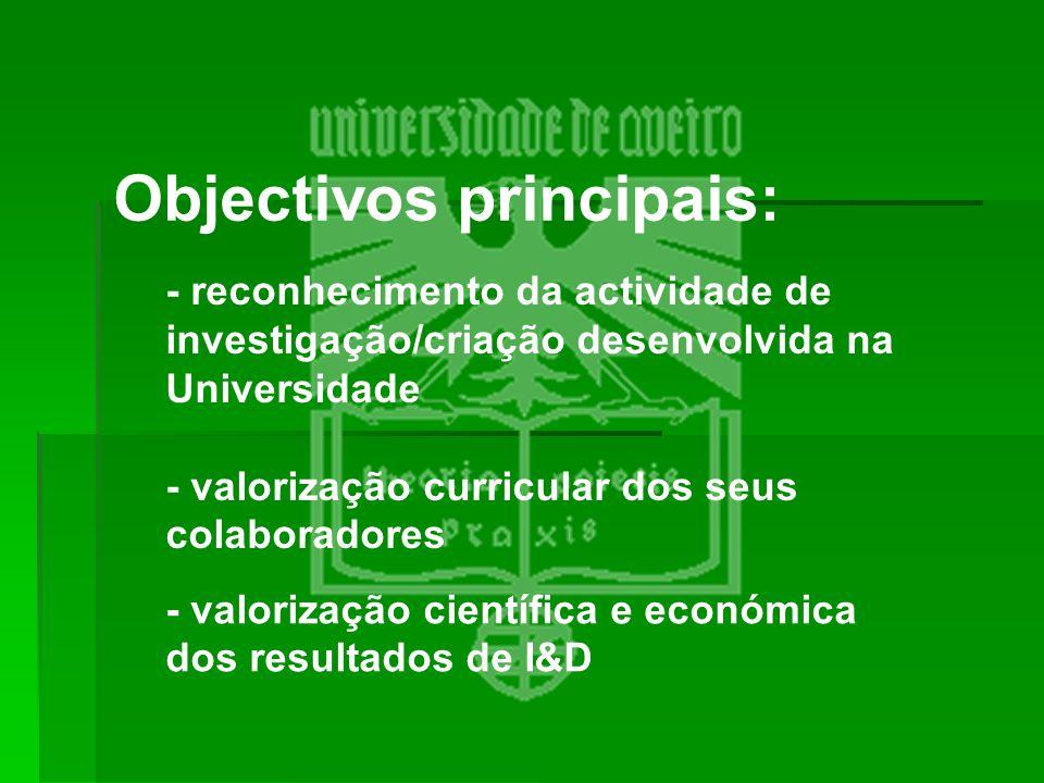 Objectivos principais:
