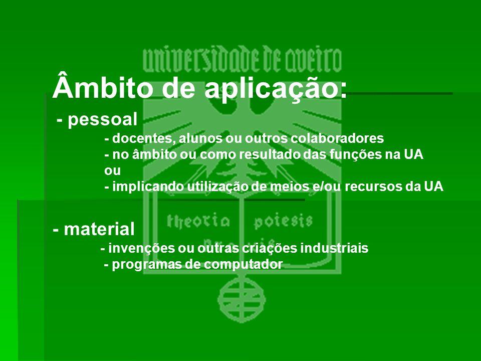 Âmbito de aplicação: - pessoal - material