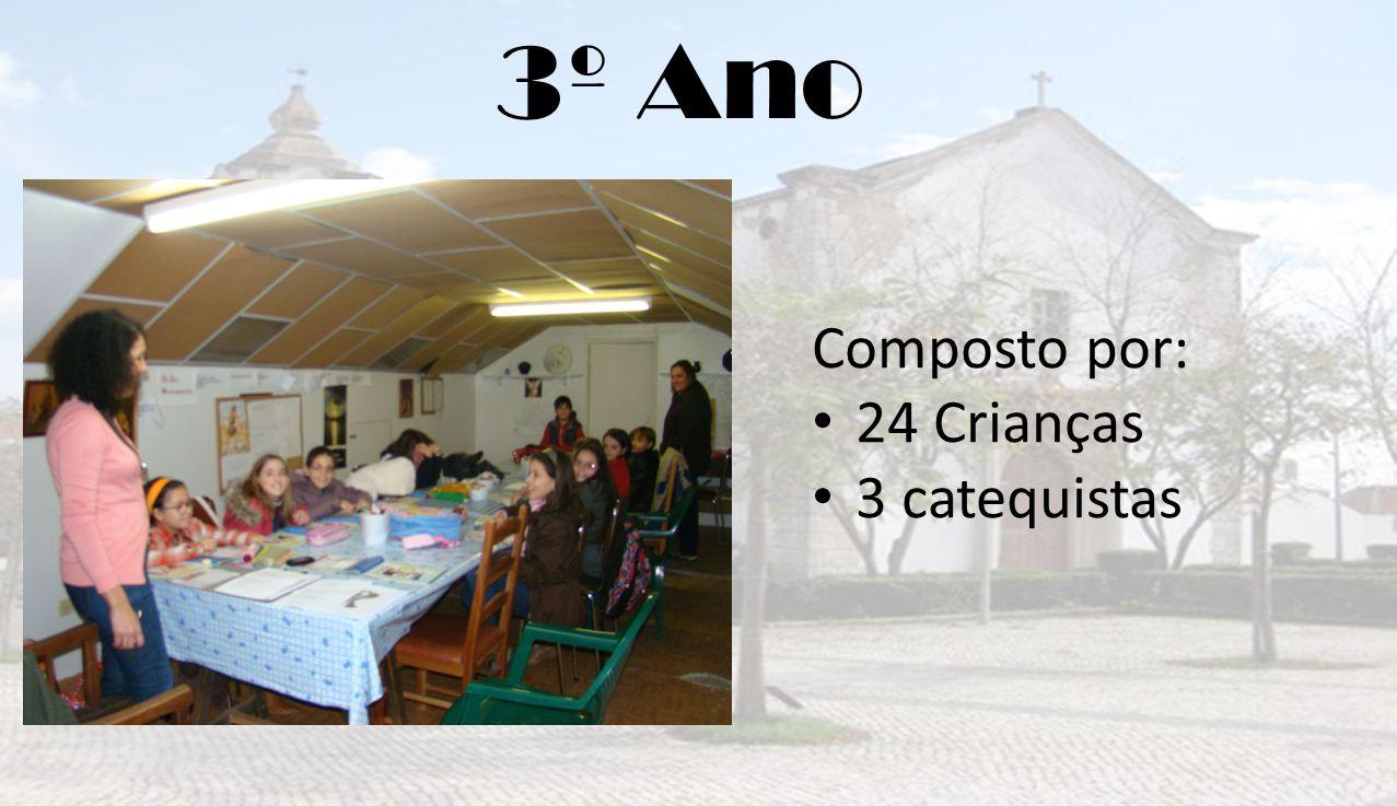 3º Ano Composto por: 24 Crianças 3 catequistas