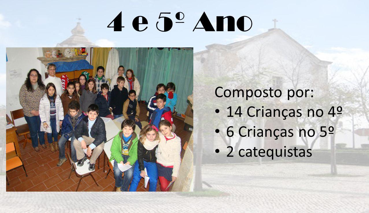 4 e 5º Ano Composto por: 14 Crianças no 4º 6 Crianças no 5º
