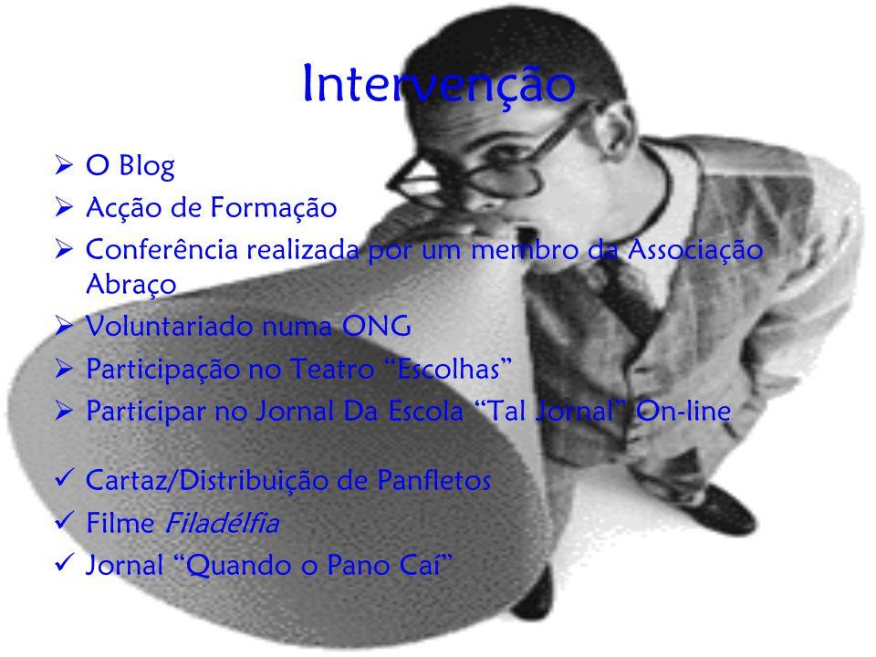 Intervenção O Blog Acção de Formação