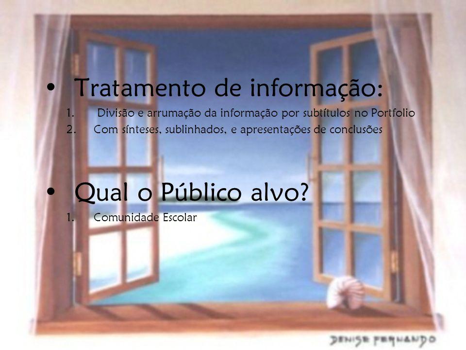 Tratamento de informação: