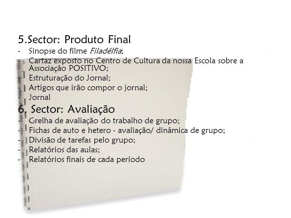 5.Sector: Produto Final 6. Sector: Avaliação