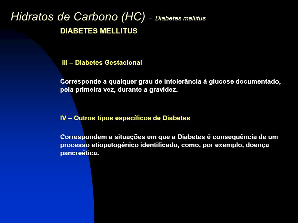 Hidratos de Carbono (HC) – Diabetes mellitus