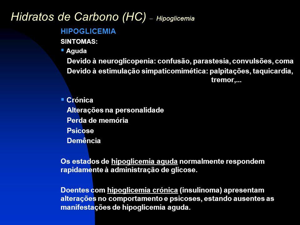 Hidratos de Carbono (HC) – Hipoglicemia