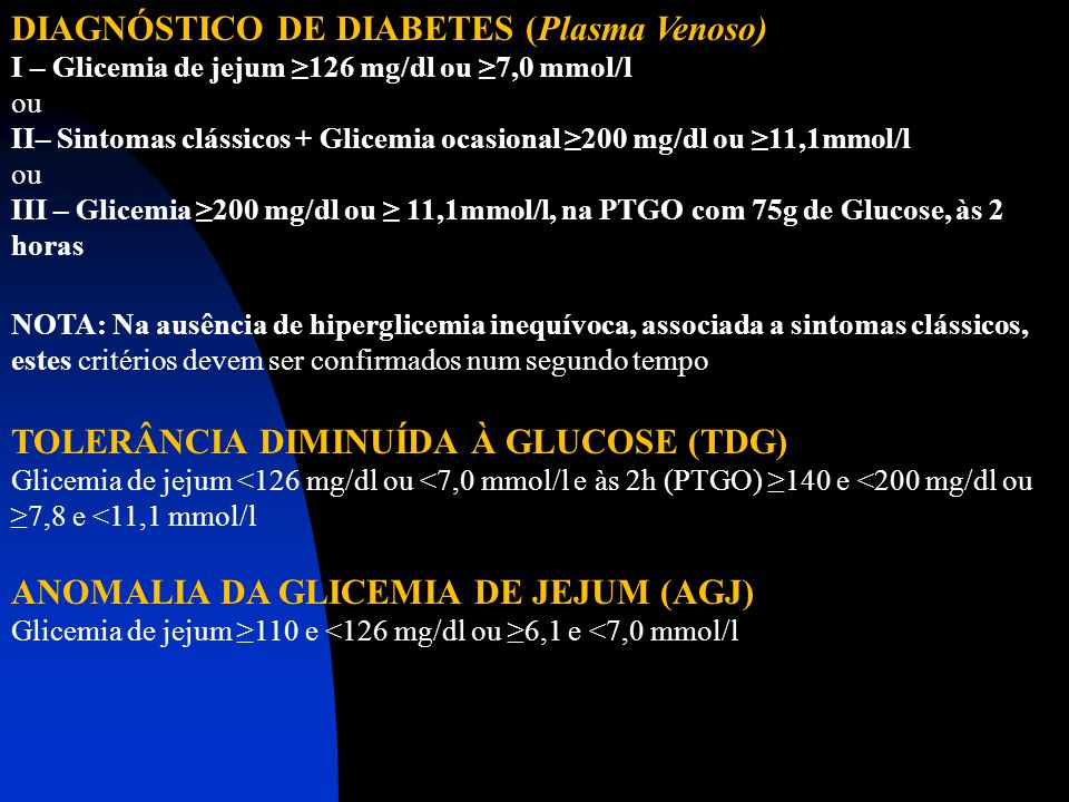 DIAGNÓSTICO DE DIABETES (Plasma Venoso)